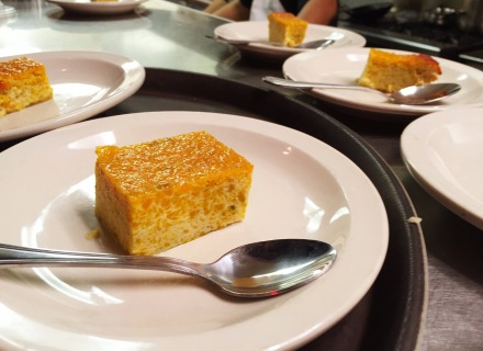 Pumpkin custard dessert.