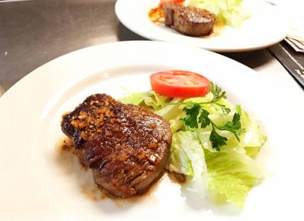 Char-rare beef tenderloin