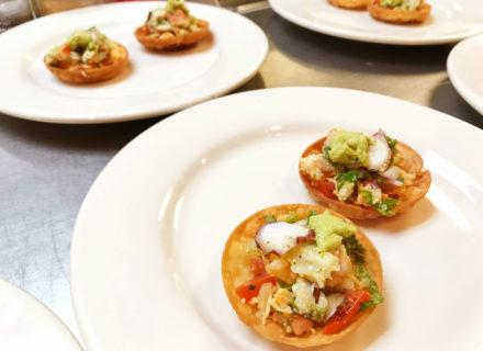 Seafood canapé