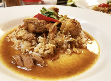 Slow-cooked pork hung-lay steamed rice