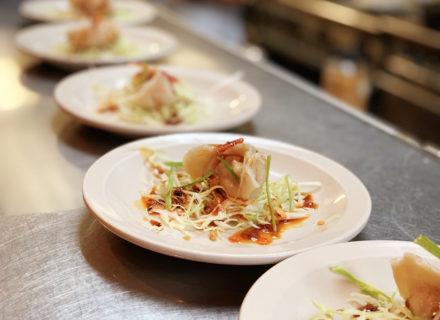 "2005 Cabernet Sauvignon ""Rockaway"" Single Vineyard paired with steamed porkshroom dumpling"